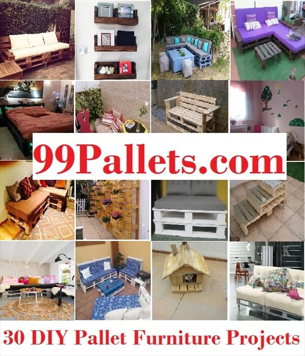 30 diy pallet furniture projects 99 pallets for Pallet furniture projects