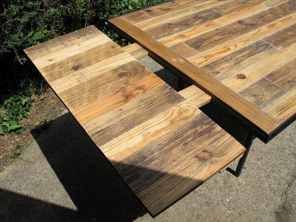 picnic table as dining room table