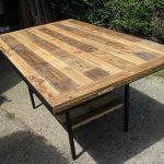DIY Industrial Pallet Dining Table
