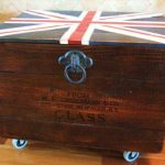 Pallet and Crate Chest with Union Jack Top
