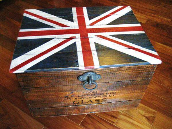 diy pallet crate chest