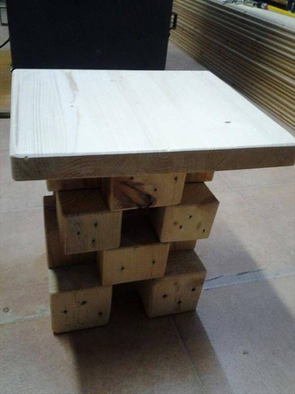 Amazing Pallet Blocks Side Table 99 Pallets