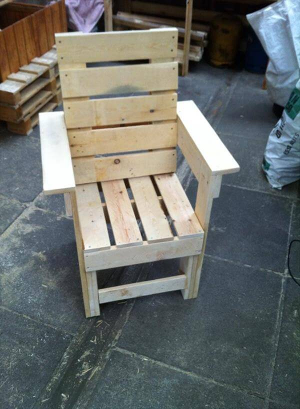 DIY Recycled Pallet Chair 99 Pallets