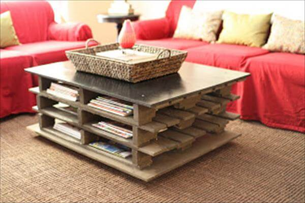 diy pallet coffee table with storage | 99 pallets