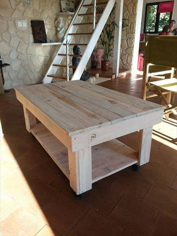 resurrected pallet coffee table