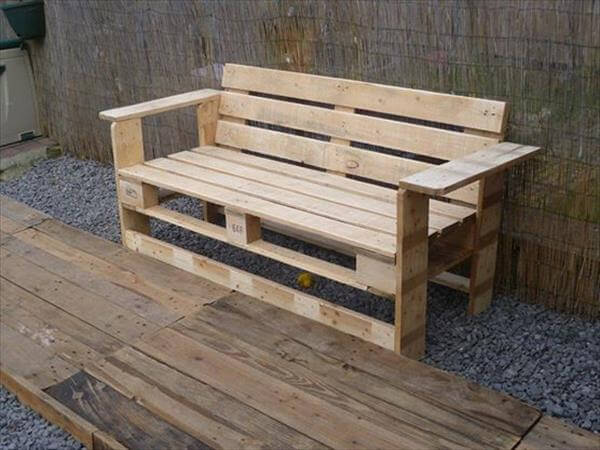 diy rustic pallet outdoor bench build pallet furniture