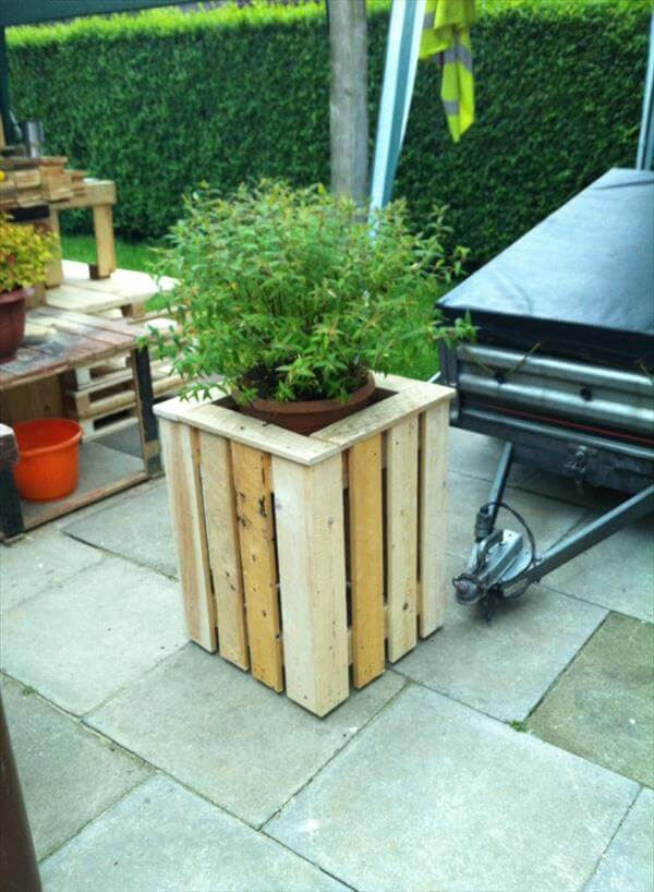 diy easy pallet planter box