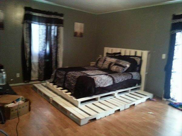 pallets to get a certain height for or bed. All the boards of pallets ...