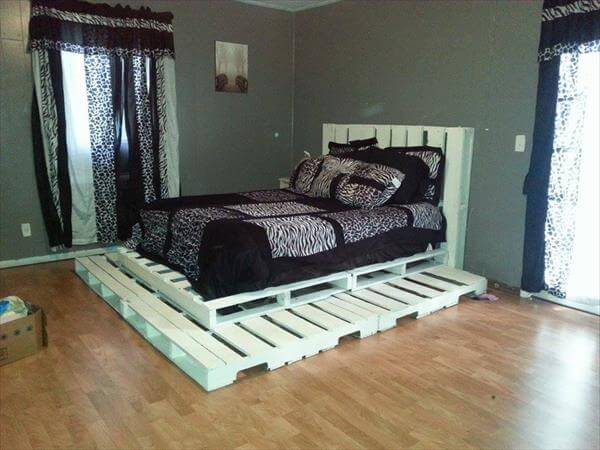 plans for wood platform bed