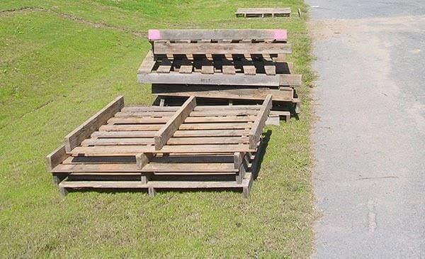 pallet wood skids