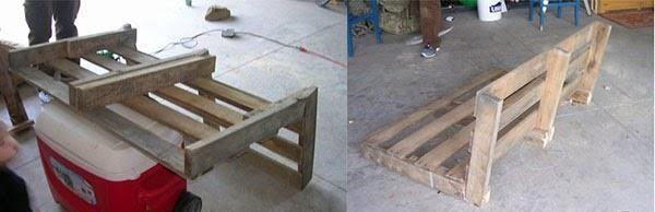 sanding of pallet wood