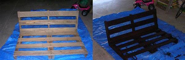 staining of pallet wood