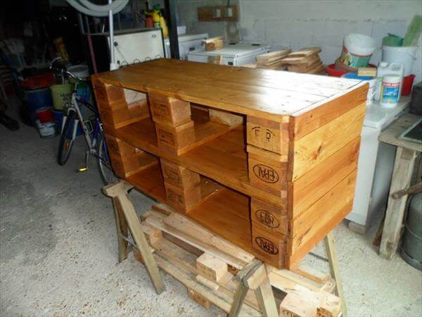 varnishing and staining of table frame