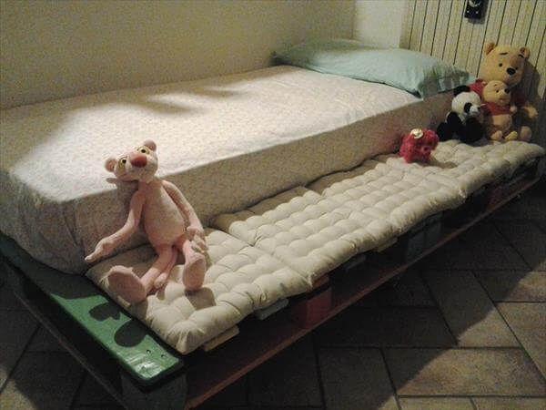 resurrected pallet wood baby bed