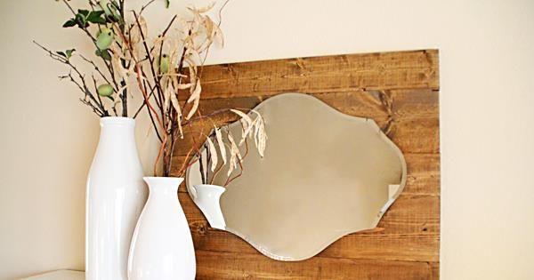 diy rustic pallet mirror