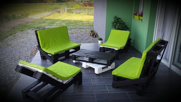 Outdoor Patio Furniture Made From Pallets patio furniture set made from pallets | 99 pallets