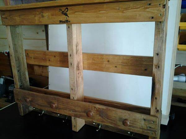 upcycled pallet rack and shelf