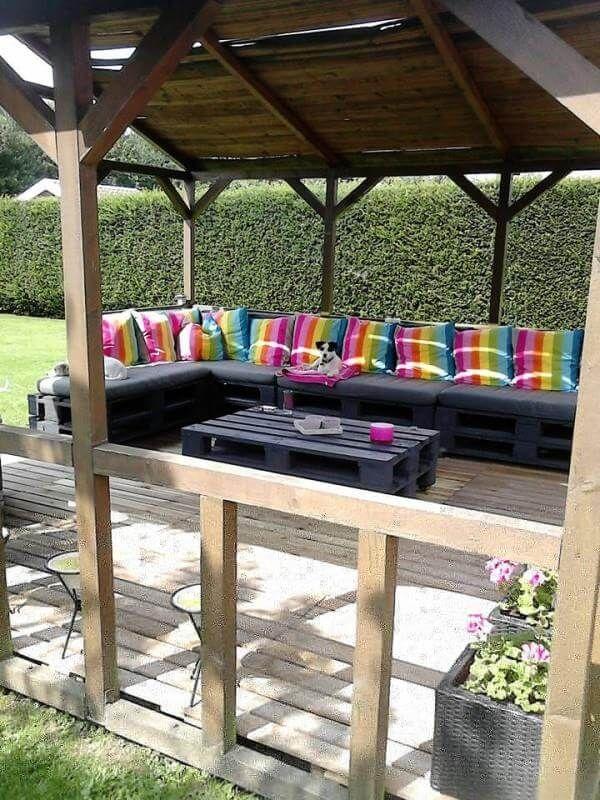 Diy pallet terrace furniture 99 pallets for Diy terrace