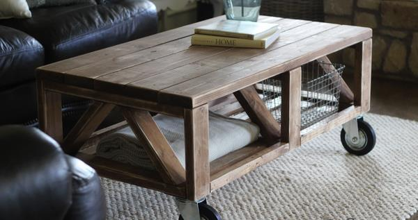pallet coffee table with wheels tutorial | 99 pallets