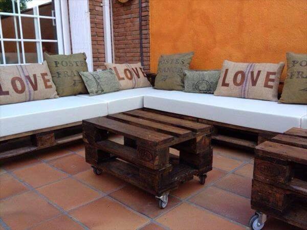 reclaimed pallet sectional sitting plan
