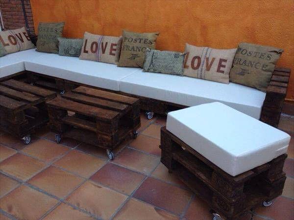 repurposed pallet patio furniture