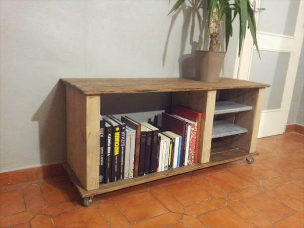 Wood TV Stand with DVD Storage