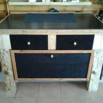DIY Pallet Table with Storage Cabinet