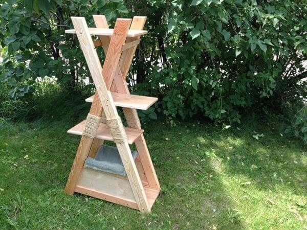 DIY Pallet Cat Tower | 99 Pallets