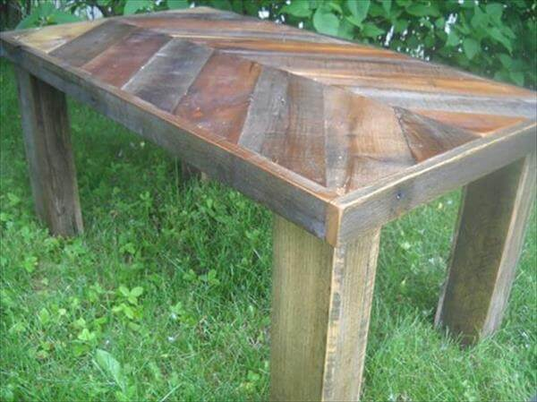 Chevron Pallet Coffee Table diy chevron pallet coffee table | 99 pallets