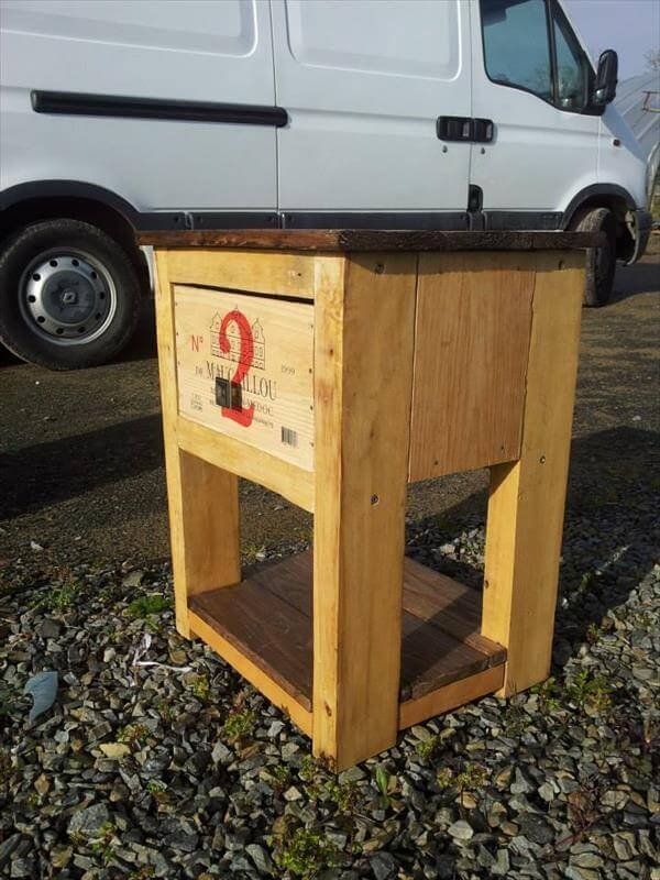 Diy pallet end table and nighstand 99 pallets for End tables out of pallets