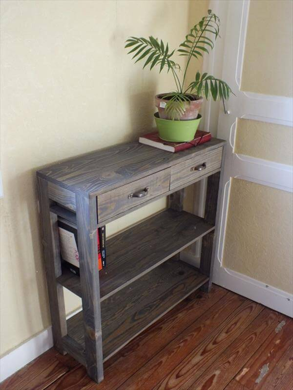 Pallet entryway table - Entryway decorating ideas for small spaces minimalist ...