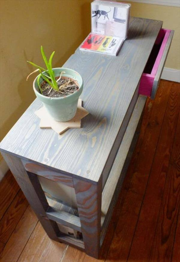 Drawers to it have also been repurposed from the pallets and have been ...