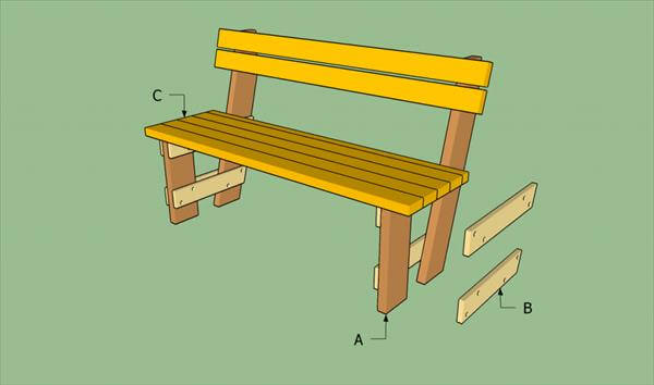 How to build pallet bench 99 pallets for How to build a wooden bench with a back