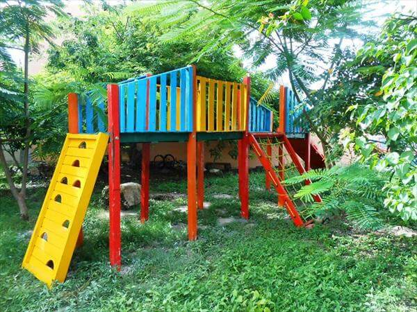 reclaimed pallet kids fun land