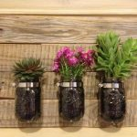 DIY Pallet Mason Jar Planter