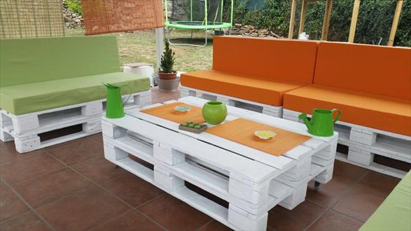 Diy pallet patio furniture 99 pallets for Sofa de palets exterior