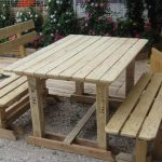 DIY Pallet Picnic Table with Benches