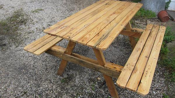 Pallet Picnic Table Plans Diy Pallet Picnic Table