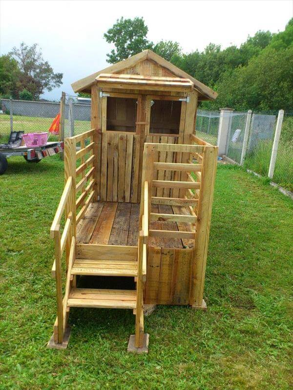 Gallery For > Simple Pallet Playhouse