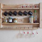 Pallet Utensil Rack for Kitchen