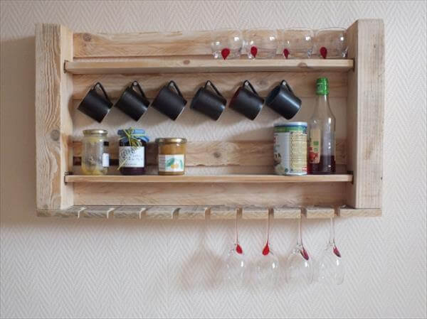 Recycled Pallet Utensil Rack
