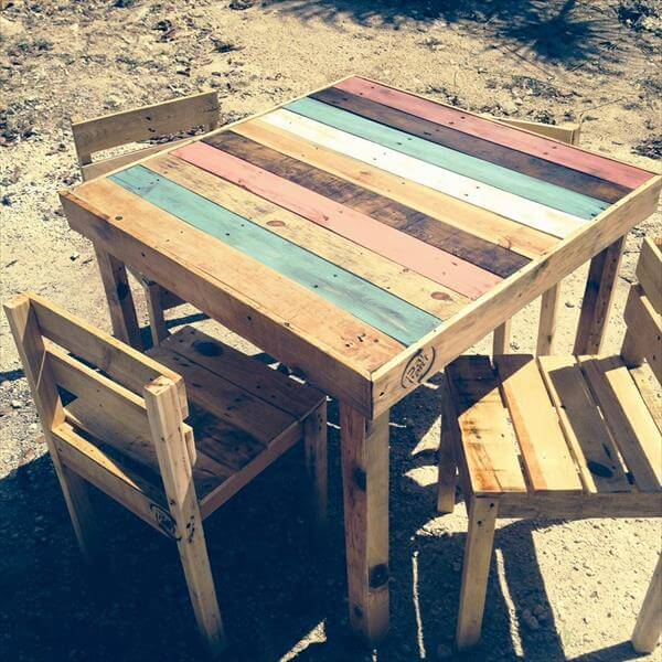 diy pallet wood dining furniture