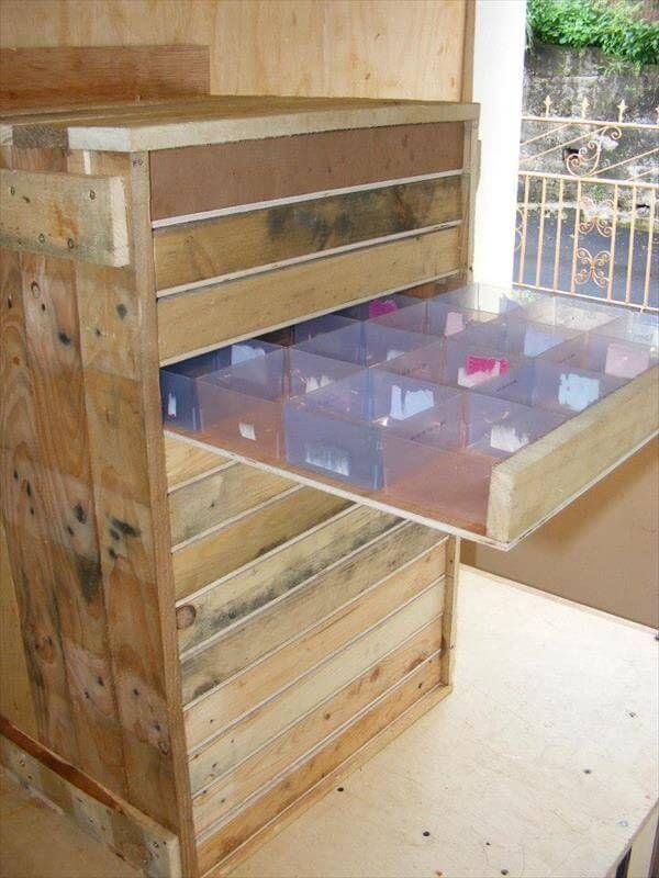 Pallet Tool Storage Cabinet Diy Tutorial
