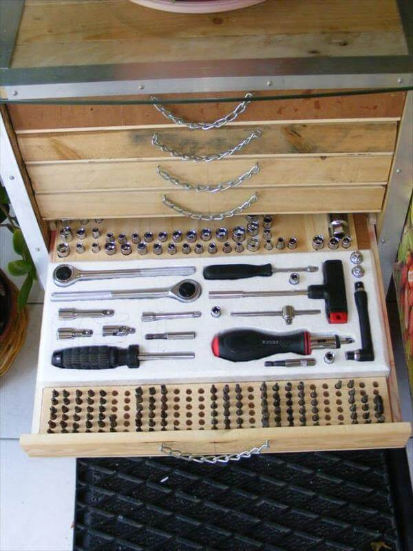 Pallet Tool Storage Cabinet Diy Tutorial