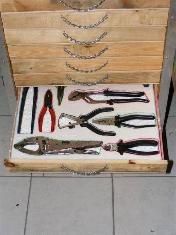 Pallet Tool Storage Cabinet Diy Tutorial 99 Pallets