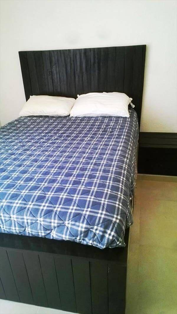 diy rustic pallet bed frame