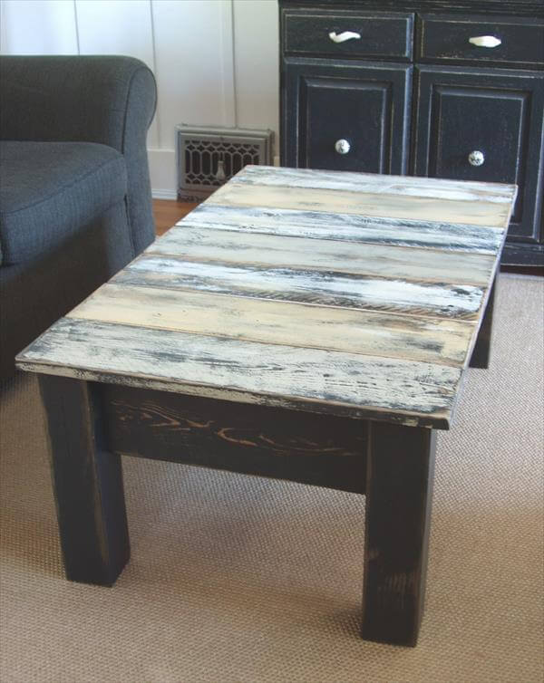 DIY Antique Pallet Coffee Table Makeover 99 Pallets