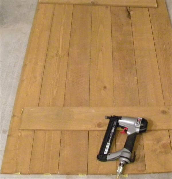 making a wooden sheet out of pallets