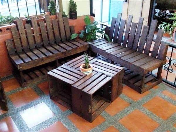 Mid Century Inspired Pallet Sitting Furniture   Pallets