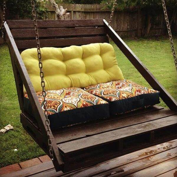 shipping pallet furniture ideas. upcycled pallet swing shipping furniture ideas s
